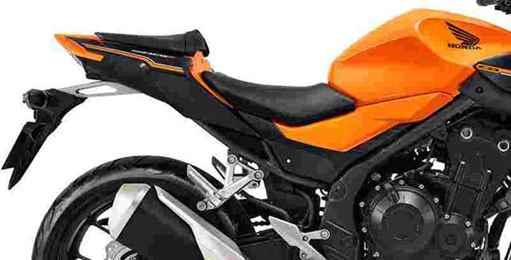 Imagem da traseira da CB 500F na cor laranja