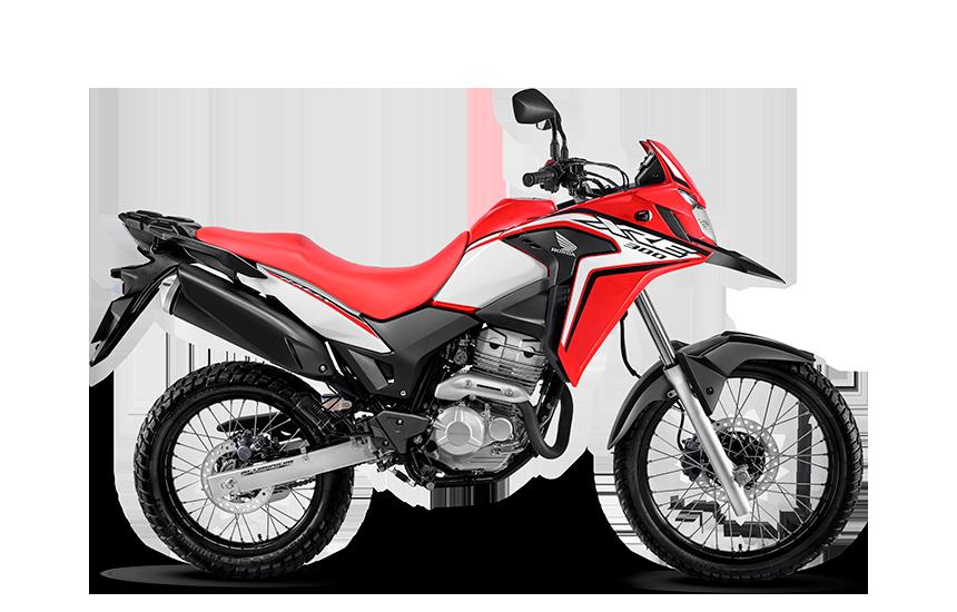 Imagem da XRE 300 2020 na cor vermelha