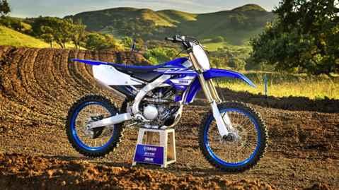 Foto de cima da Nova Yamaha YZ