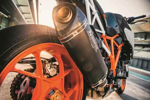 escapamento da Nova KTM 1290 SUPER DUKE