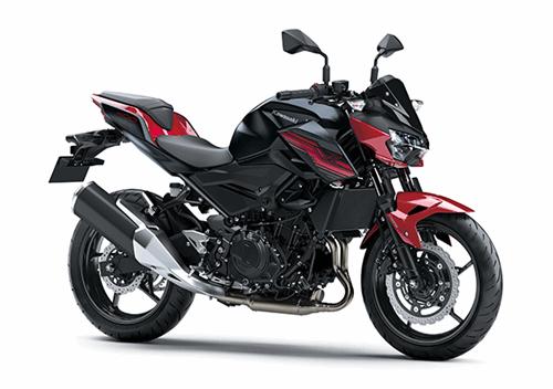 Nova Kawasaki Z400 2020 vermelha