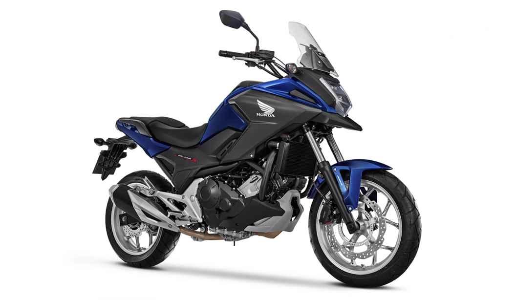 Imagem da NC 750X 2020 na cor azul