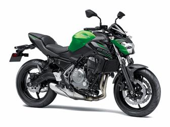 Imagem da Kawasaki Z650 2020 na cor verde