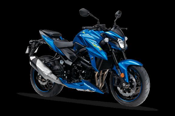 Imagem da Suzuki GSX-S750 2020 na cor azul