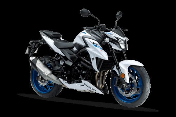 Imagem da Suzuki GSX-S750 2020 na cor branca