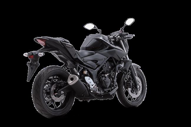Traseira da Yamaha MT-03 2021