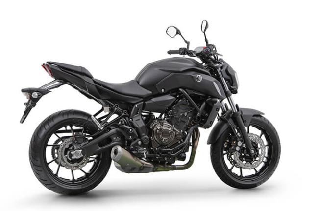 Imagem da Nova Yamaha MT-07 2021 na cor preta