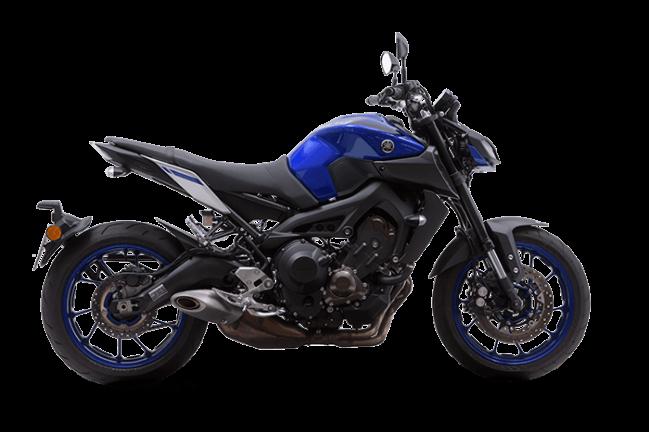 Imagem da Nova Yamaha MT-09 2021 na cor azul
