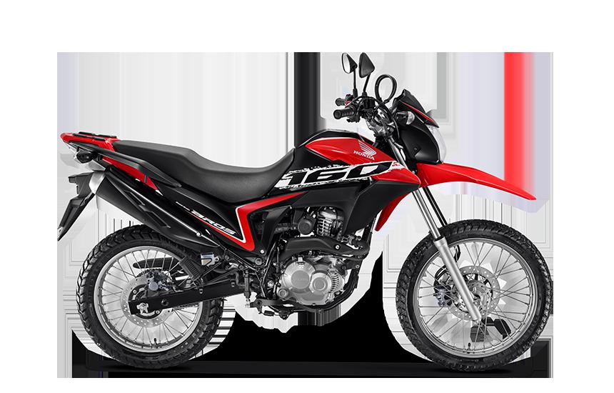 Imagem da NXR 160 Bros 2021 na cor vermelha