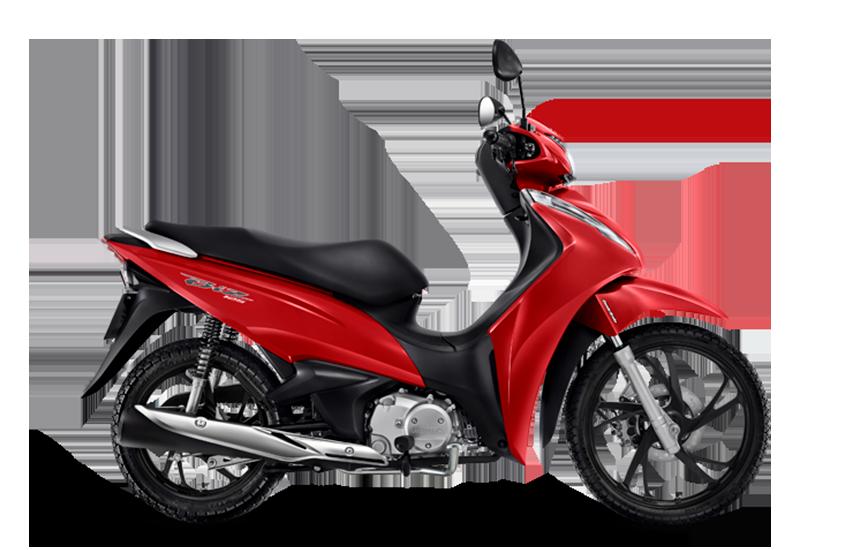 Nova Biz 125 2021 na cor vermelha
